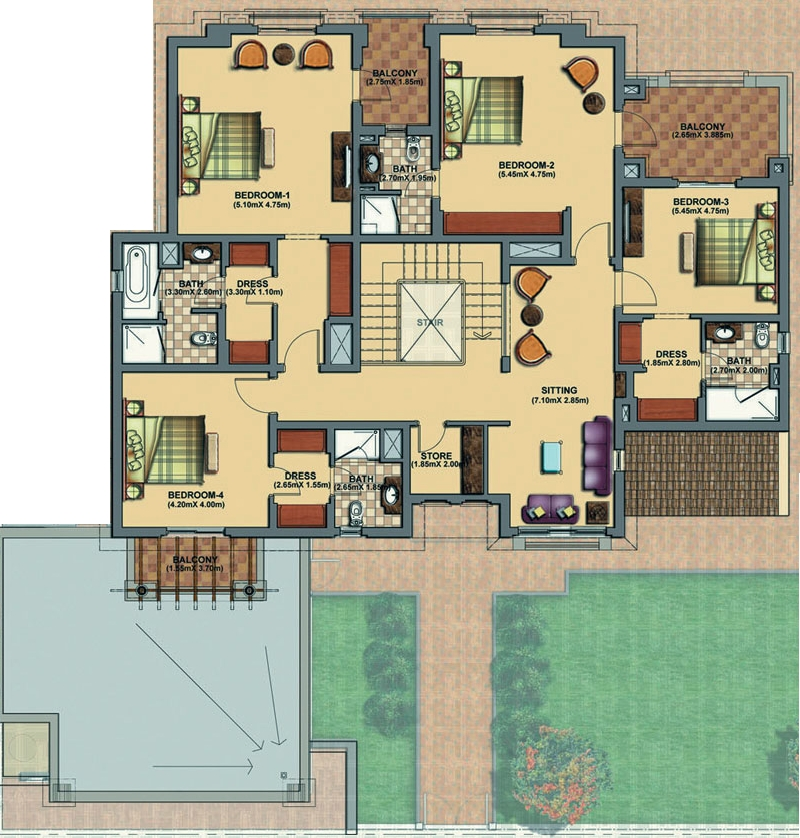 Dubaidubailand on House Plans 1 Bedroom Apartment