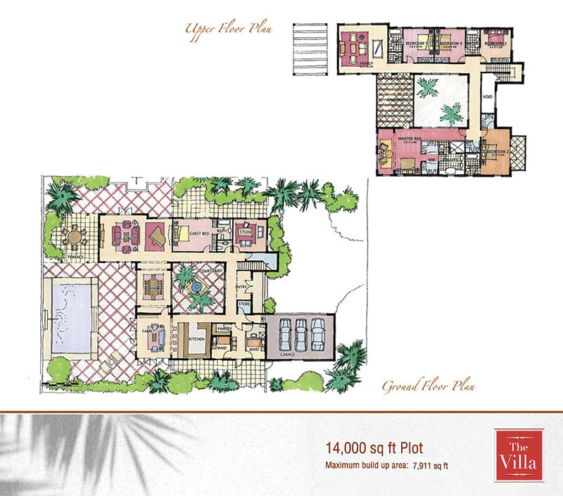 The villa cordoba floor plans the villa dubai for Small villa plan