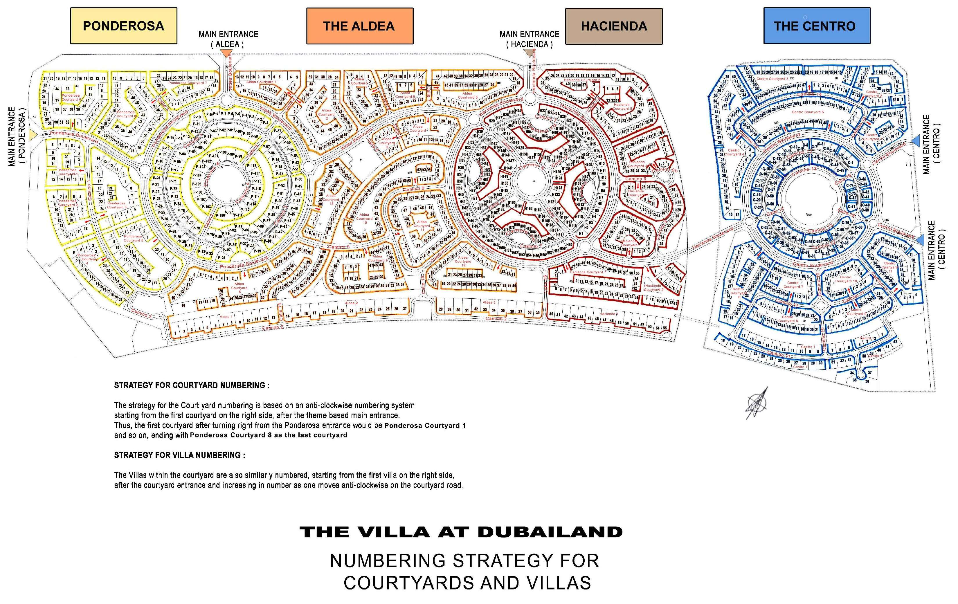 The Villa Map The Villa Dubai Master Plan