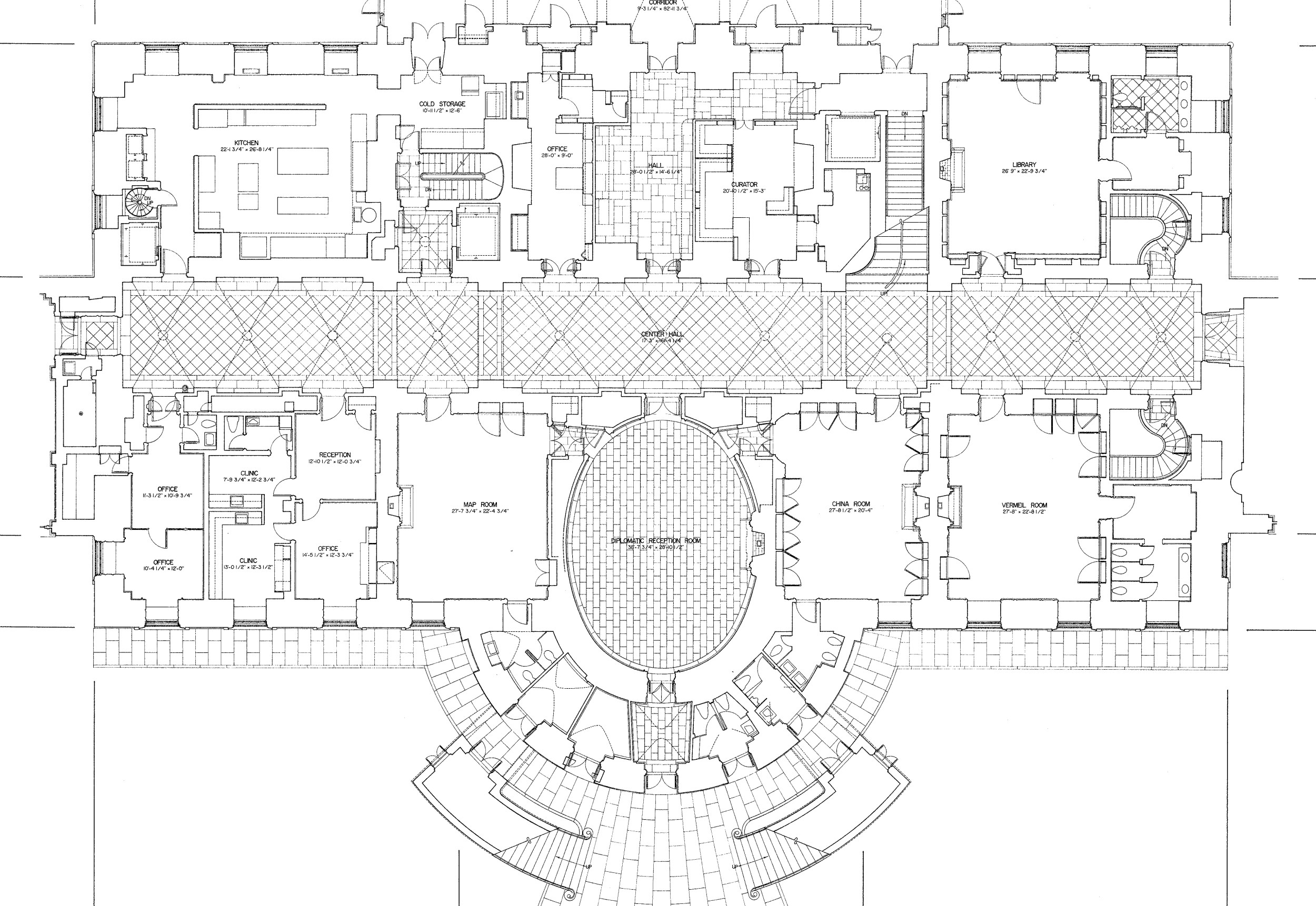 The white house floor plans washington dc House layout plan