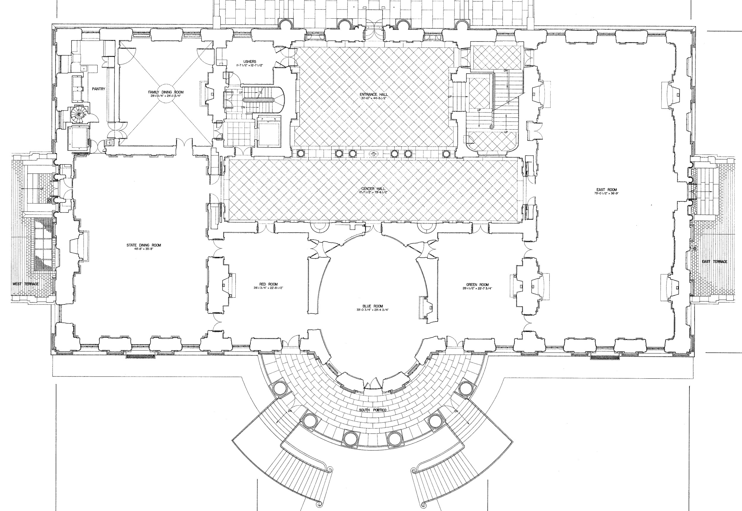 The white house floor plans washington dc for House plans wa