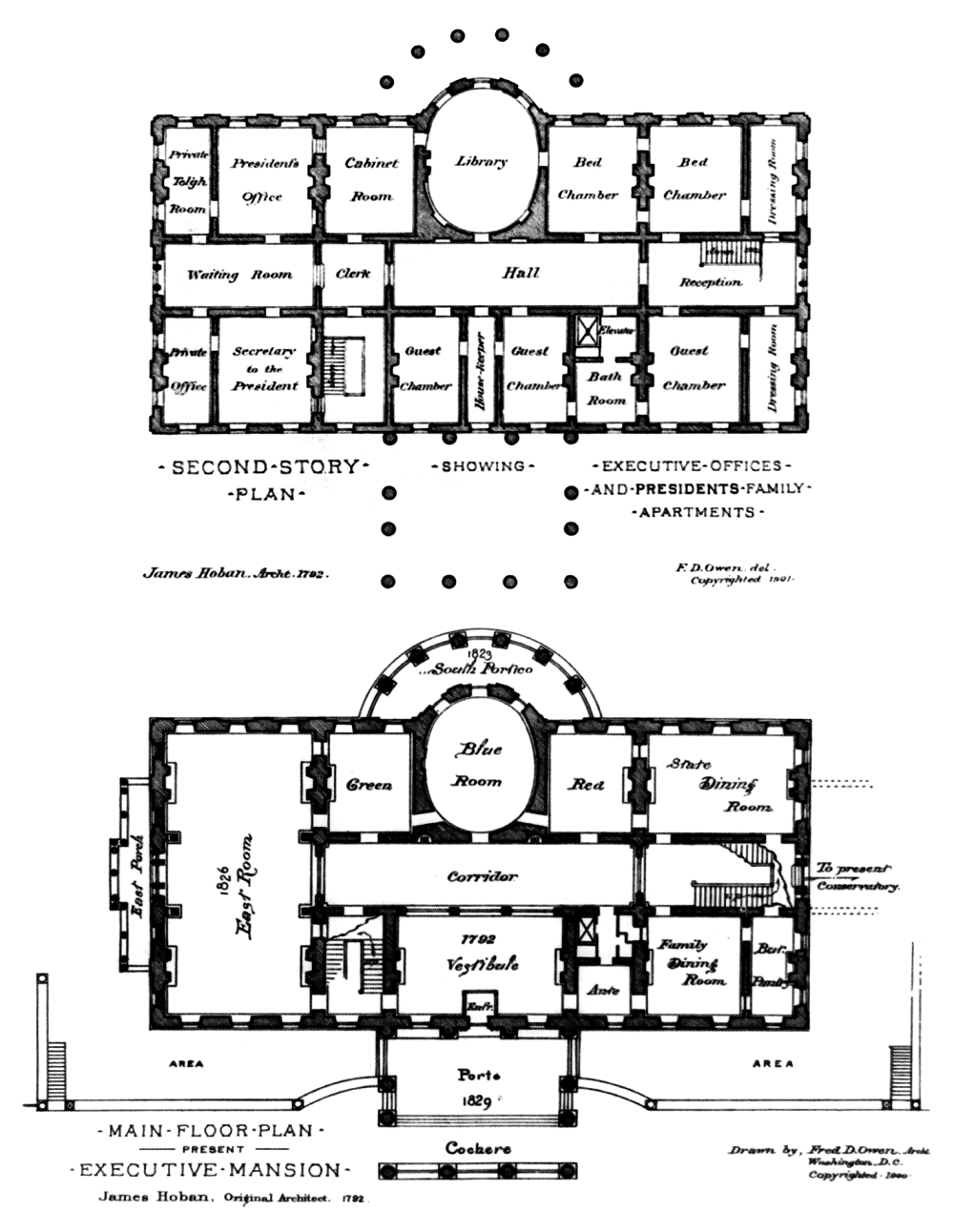 The White House Floor Plans Washington Dc