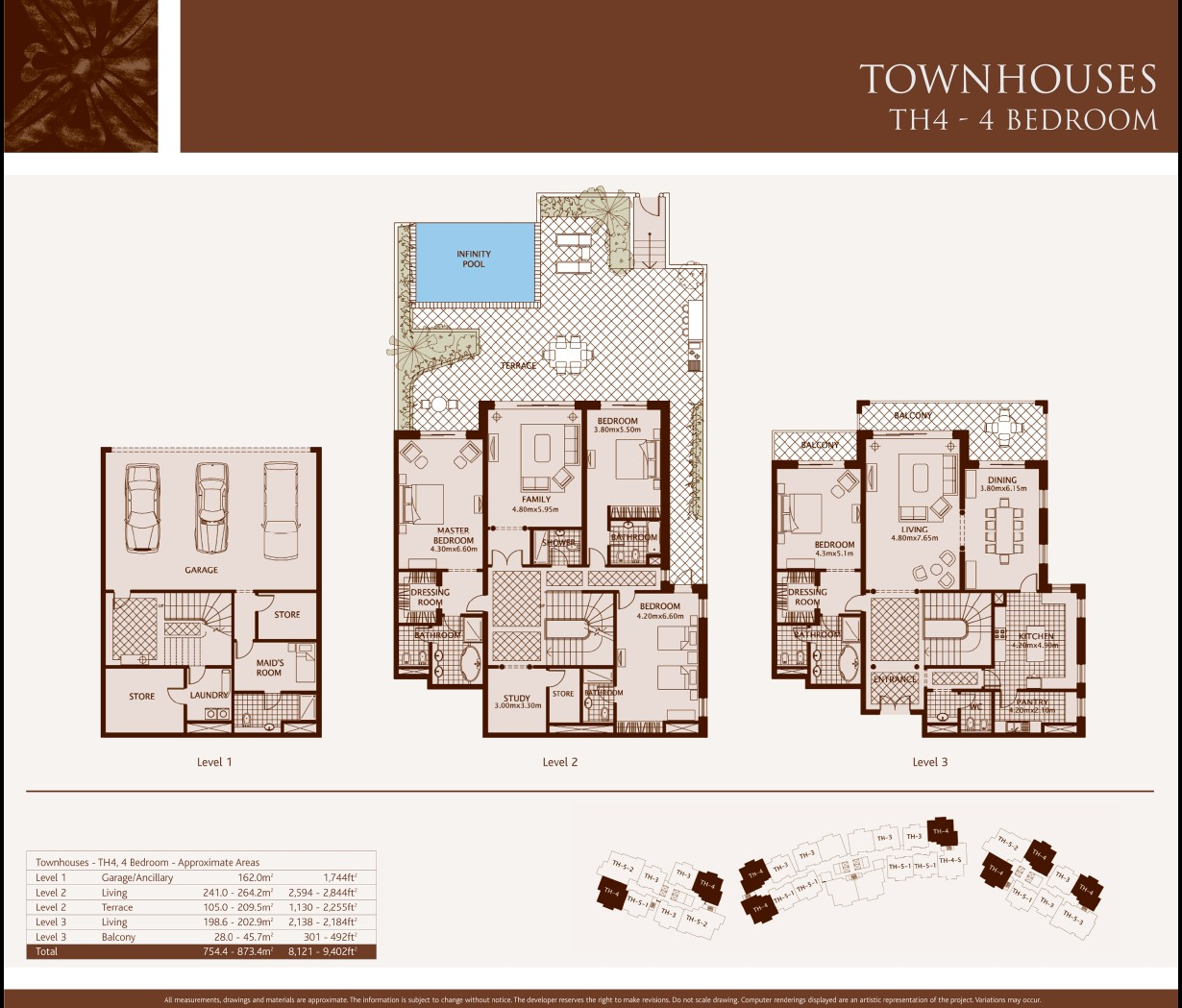 Townhouse floor plans joy studio design gallery best for Four bedroom townhomes