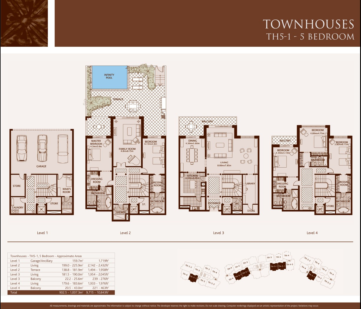 Palm jumeirah dubai floor plans for 4 bedroom townhouse floor plans