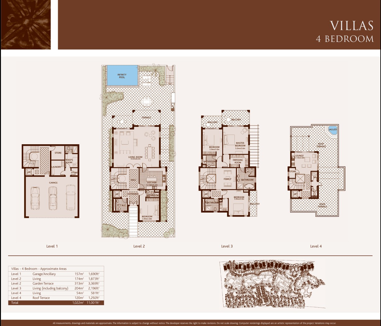 Palm jumeirah dubai floor plans for 4 bedroom villa designs