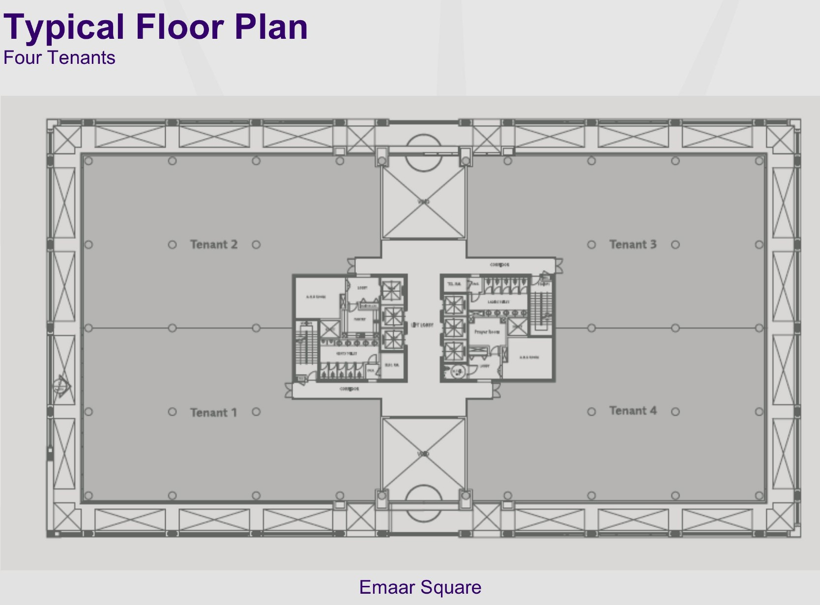 Downtown burj khalifa dubai floor plans for Typical office floor plan