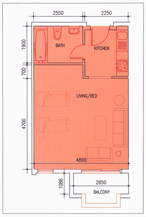 International city dubai floor plans for Studio layout plan