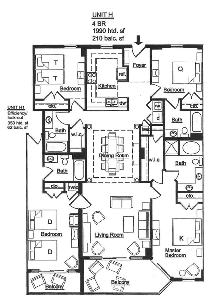 Island Vista Floor Plans Myrtle Beach South Carolina